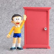12 cm Doraemon Nobita Nobi PVC Action Figures Toys Children Birthday Gift Collectible Model Ornament toy for home car decoration(China)