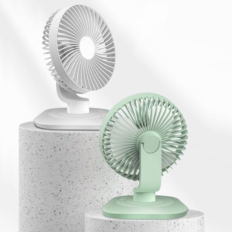 Portable Fan Desktop Portable Fan Color : Gray Multi-Color Optional Carry Adjustable Three Wind Speed LMMNFS USB Mini Fan Student Dormitory Mute Small Table Fan Rechargeable Portable Fan
