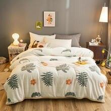 Высококачественное Коралловое флисовое мягкое одеяло для украшения дивана желтое одеяло теплое покрывало для кровати в подарок