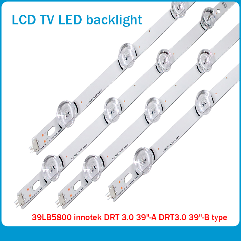 New 10set=80 PCS LED Backlight Strip Bar Perfect Compatible For LG 39 Inch TV 39LB561V 39LB5800 Innotek DRT 3.0 39 Inch A B