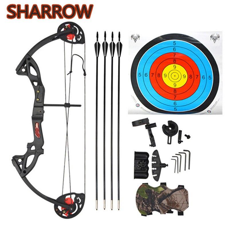 Junior Complete Compound Bow Arrow посылка, набор для детей 15-29 фунтов, набор для детей младшего возраста, 260 кадров в секунду, Тренировочный Набор для стрель...