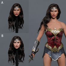 In Stock GC037 1/6 Scale Female Head Sculpt European and American Heroines Wonder Woman Head Sculpt Carved Model for 12'' Body