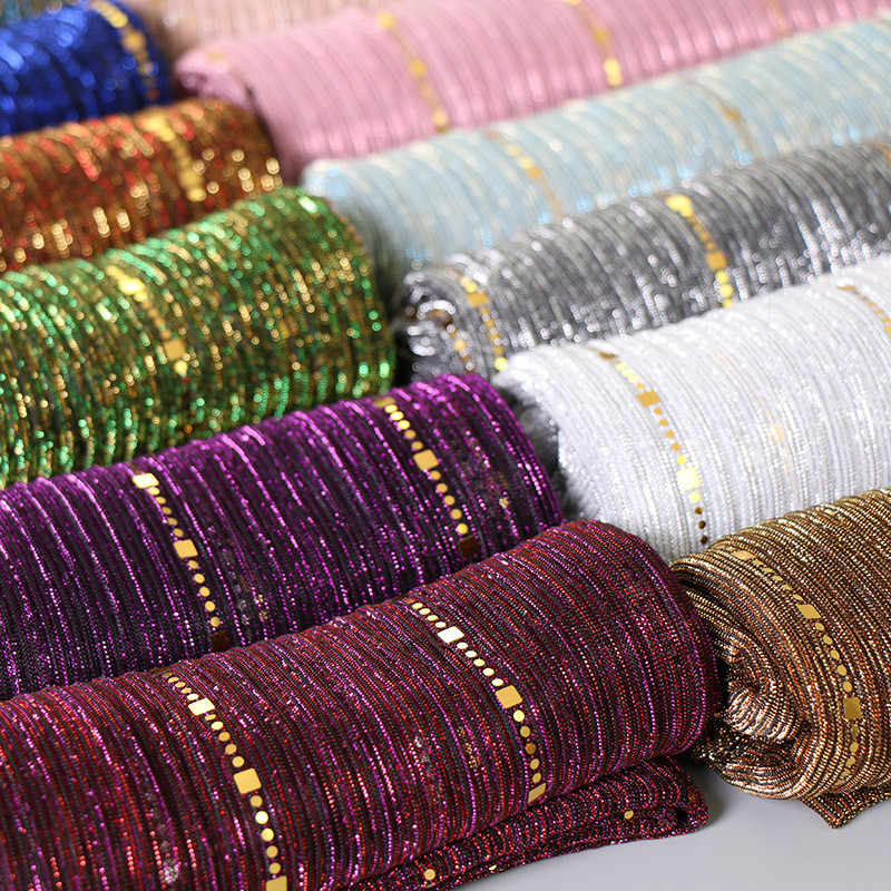 2019 חדש נשים זהב משי מוצק צבע מוסלמי ראש צעיף וכורכת פשמינה בנדנה נשי צעיף רך חיג 'אב חנויות
