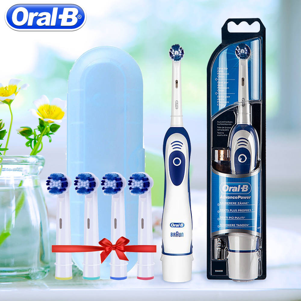 Oral B Sonic Electric Toothbrush Teeth Whitening Vitality Tooth Brush No-Rechargeable Battery Powered Travel Brush Teeth image