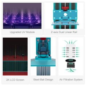 Image 5 - طابعة ANYCUBIC Photon S ثلاثية الأبعاد SLA طابعة ثلاثية الأبعاد مزدوجة Z axis 2K تعمل باللمس طابعة UV الراتنج impressora ثلاثية الأبعاد imprimante ثلاثية الأبعاد drucker
