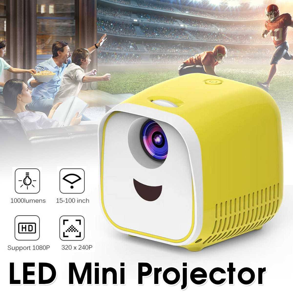 Version de bande dessinée Mini projecteur Portable 1080P écran LCD équipement vidéo TV DLP Proyector soutien 4K vidéo LED projecteur