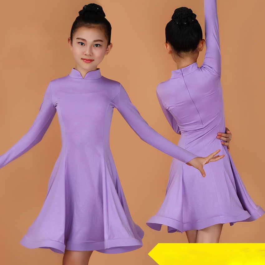 שמלת ריקוד לטיני ילדה ריקודים סלוניים רומבה סמבה לטיני ילדי ריקוד תלבושות 2020 חדשות צווארון מודרני קרנבל ג 'אז Dancewear