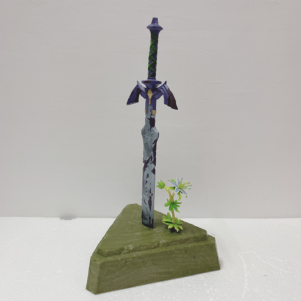 Zelda espada hacia el cielo link maestro espada MODELO DE figura de acción de juguete muñeca regalo 26cm Dropshipper Link 100CM luces USB cola de caballo