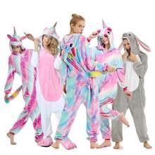 Единорог пижамы onesie животных женщин кигуруми стежка взрослых