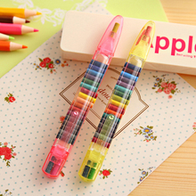 Color crayons 20 color graffiti painting stationery creative personality students multi-color pens in one interchangeable core k