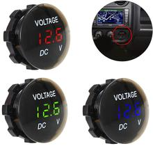 New DC 12V-24V Digital Panel Voltmeter Voltage Meter Tester LED Display for Car Auto Motorcycle Boat ATV Truck Refit Accessories black 60mm gps digital speedometer 12v 24v odometer gauge car motorcycle atv marine boat truck