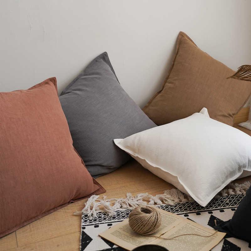 plain cushion cover 45x45cm linen
