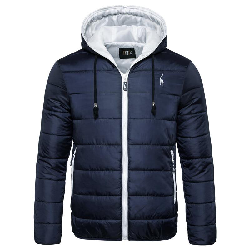 Winter Jacket Hoodied Parka Men Zipper Thicken Waterproof Camouflage New Warm Coat
