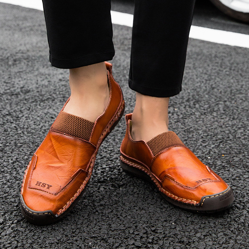 cross-border big yards men shoes genuine leather shoes