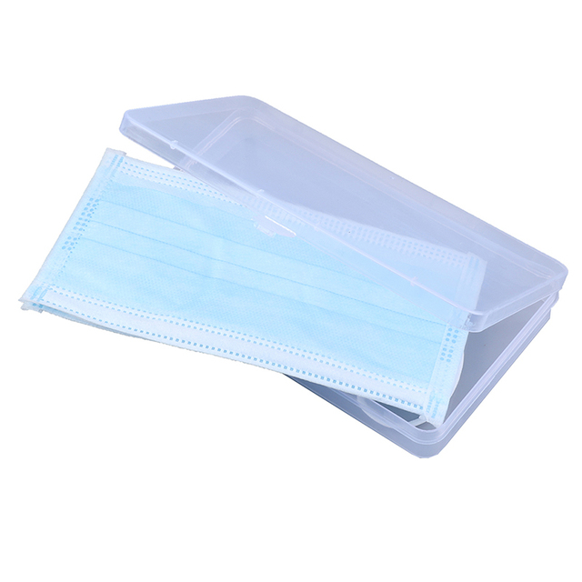 2pcs Portable Dustproof Mask Case Disposable Face Masks Container Disposable Mask Storage Box Storage Organizer 3