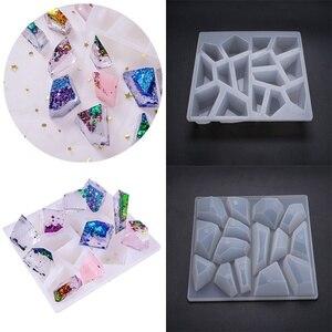 Новые Нерегулярные алмазные формы камня силиконовые формы DIY Эпоксидной смолы ювелирных изделий инструменты (только форма)