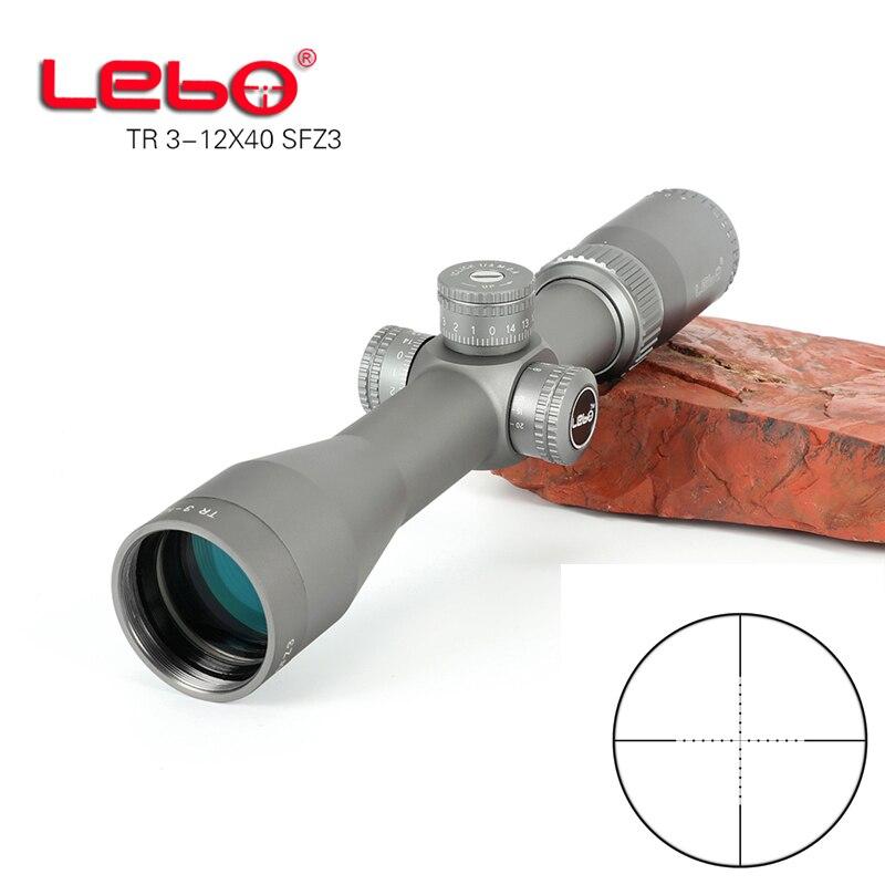 LEBO TR 3-12X40 Seite Parallaxe Glas Geätzt Absehen Jagd Optics scope Tactical Zielfernrohr schießen jagd scopes