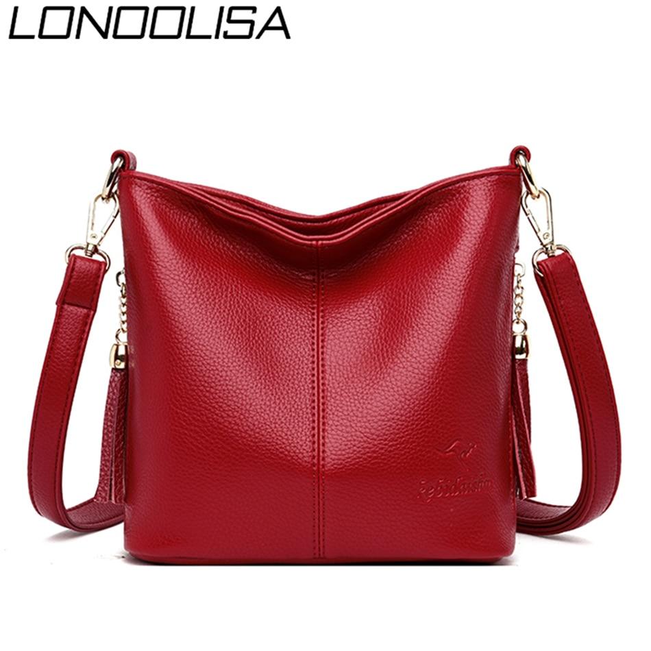 New Luxury Handbags Women Bags Designer Soft Leather Tassels Female Messenger Shoulder Crossbody Bags For Women 2019 Sac A Main