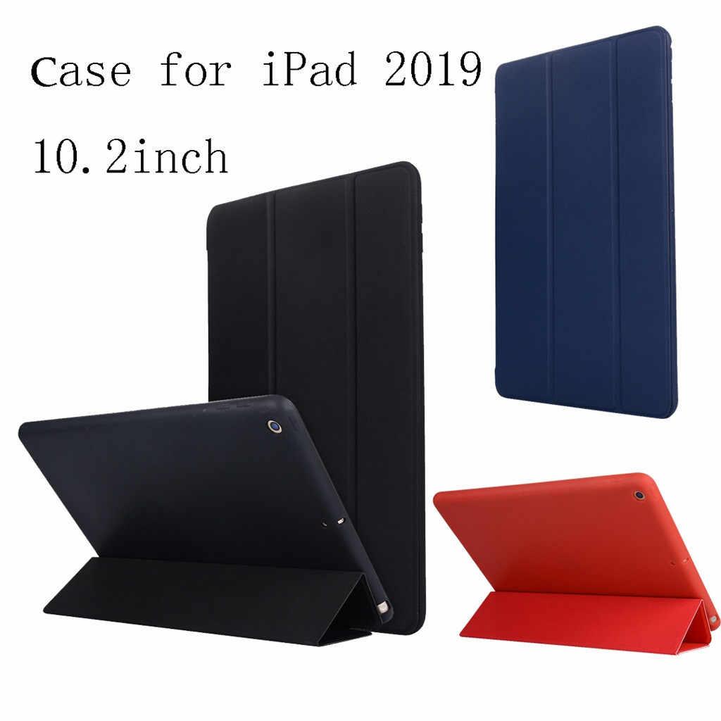 20 # حافظة لجهاز iPad 10.2 بوصة 2019 ستاند أوتو سليب سمارت جلد خلفي فوليو حافظة لجهاز iPad 7th Gen A2200 A2123
