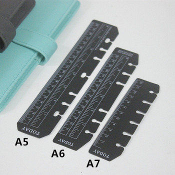 A5/A6/A7 6 Holes Bookmark Ruler Plastic Loose-leaf Holes Ruler Notebook Index Separator Page Binder Planner Drafting Supplies ezone 5 sheets a6 6 holes notebook s index page paper separator page loose leaf book category page planner stationery papelaria