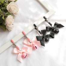 Black And Pink Woman Sexy Adjustable Nipple Clamp Breast Bdsm Small Bell Adult Fetish Flirting Teasi