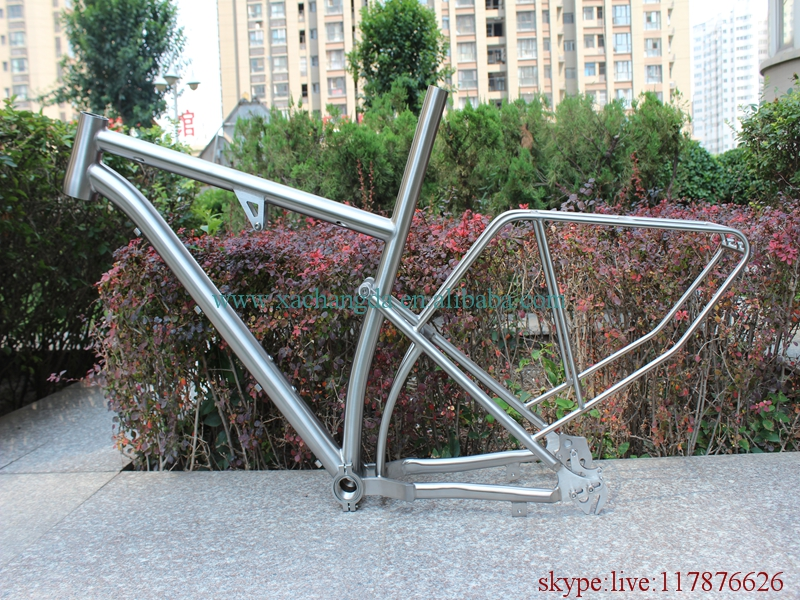 Bicycle-Frame Full-Suspension Titanium Rear-Rack with Taper-Head-Tube Special-Dropouts