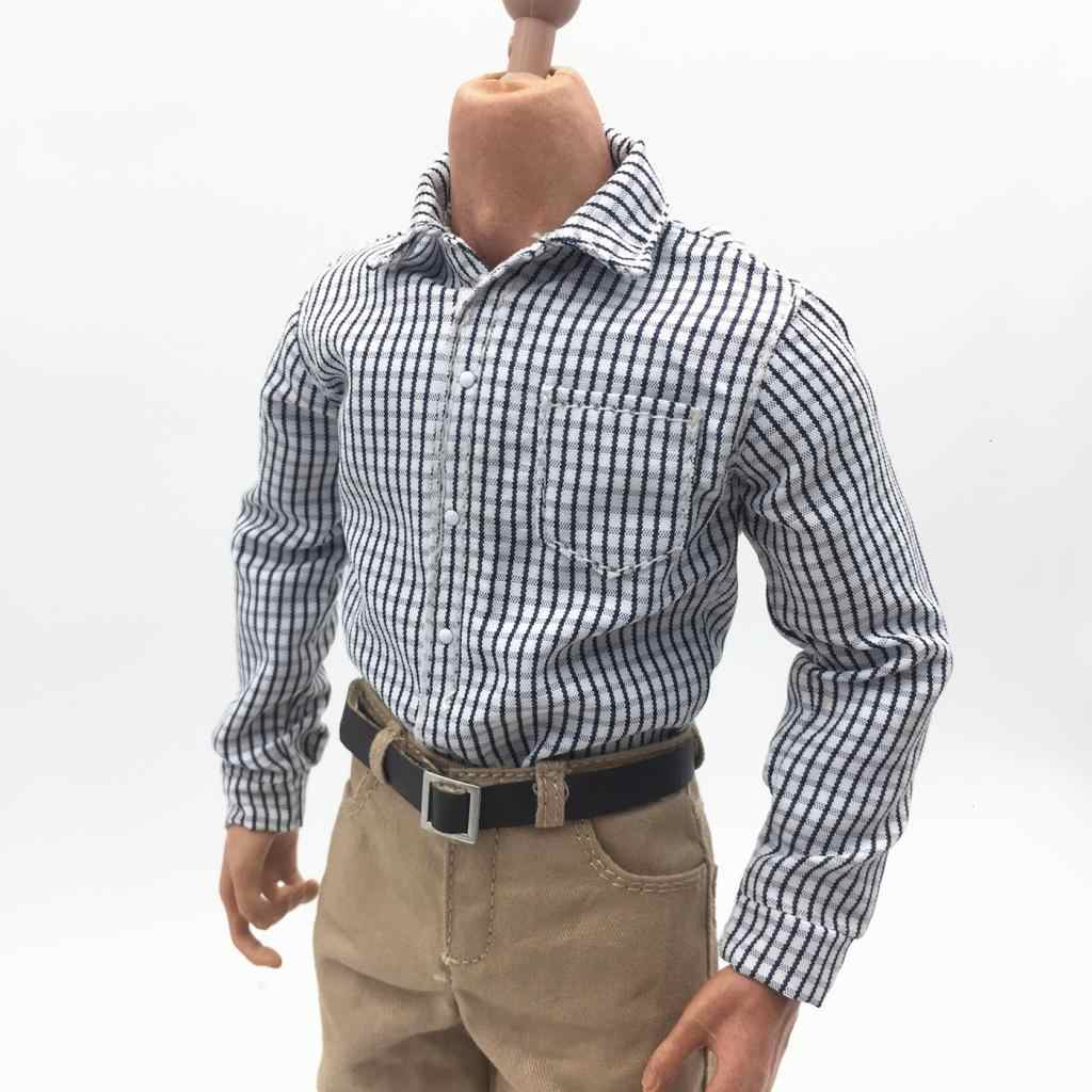 1:6 Scale Outfit White Long Sleeved Shirt for 12inch   Male Figures