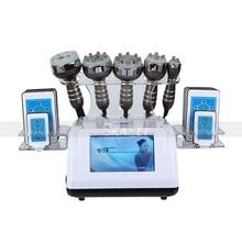 6in1 40k Ultrasonic Liposuction Cavitation 8 Pads Laser Slimming Machine Vacuum RF Body Sal