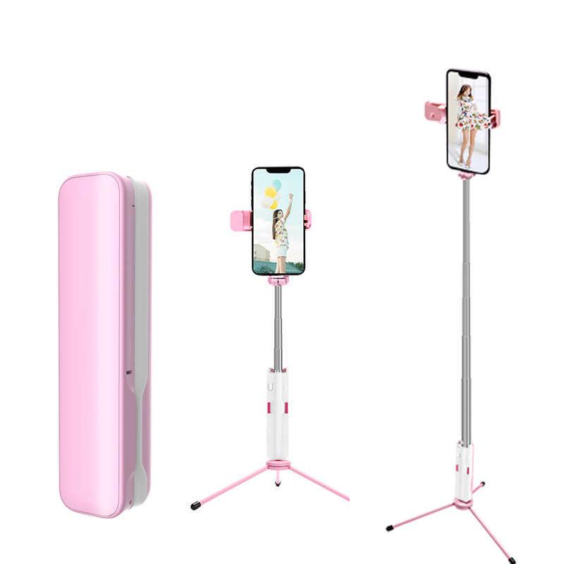 Bluetooth Mini Selfie Stick Handheld Monopod Portable Dapat Diperpanjang Kawat Dikendalikan Ponsel untuk iPhone 6S Samsung Huawei
