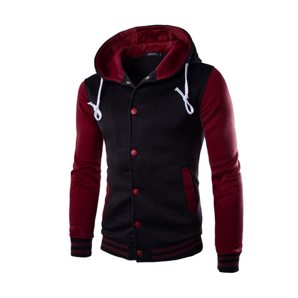 WOMAIL 2019 Fashion Zipper Long Sleeve Mens Casual Jackets Patchwork Pure Color High Quality Jacket Cotton Pockets Outwear Coat