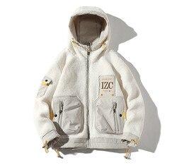 2019 зимние куртки с капюшоном, новая мужская шерстяная подкладка, Повседневная Толстая Мужская куртка, 2 цвета, размеры от M до 4XL J9544-7710-A