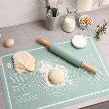 Aumento de silicone antiaderente espessamento cozimento esteira pastelaria rolando amassar almofada gadgets cozinha crepes pizza massa cozinhar ferramentas