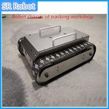 تدريس تصميم التخرج لهيكل سيارة مجنزرة مطاطية قابلة للبرمجة, هيكل روبوت ورشة عمل التتبع