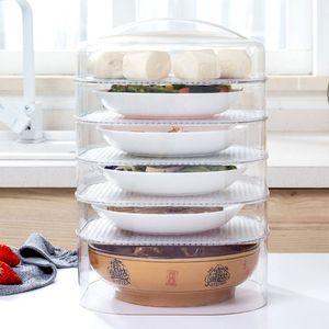 1 zestaw posiłek izolacyjny świeższy cieplej osłona ochronna przezroczysta pyłoszczelna przykrywka do żywności do wykorzystania w kuchni w domu