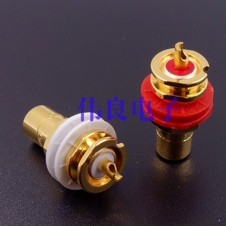 WEILIANG AUDIO USA CMC 816 Pure Copper RCA Terminal Binding Post Price For 2 Pcs