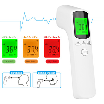 Non Contact Infrared Thermometer Forehead Thermometer Body Temperature Fever Digital Measure Tool For Baby Adult Thermometer Gun