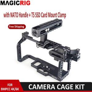 Image 1 - MAGICRIG  Portable Camera Cage  With NATO Handle Grip + T5 SSD Card Mount Clamp for Blackmagic Pocket Cinema Camera BMPCC 4K&6K