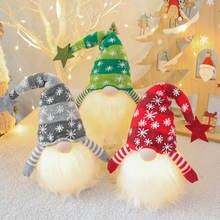 1 шт Рождественская светодиодная светящаяся плюшевая длинная