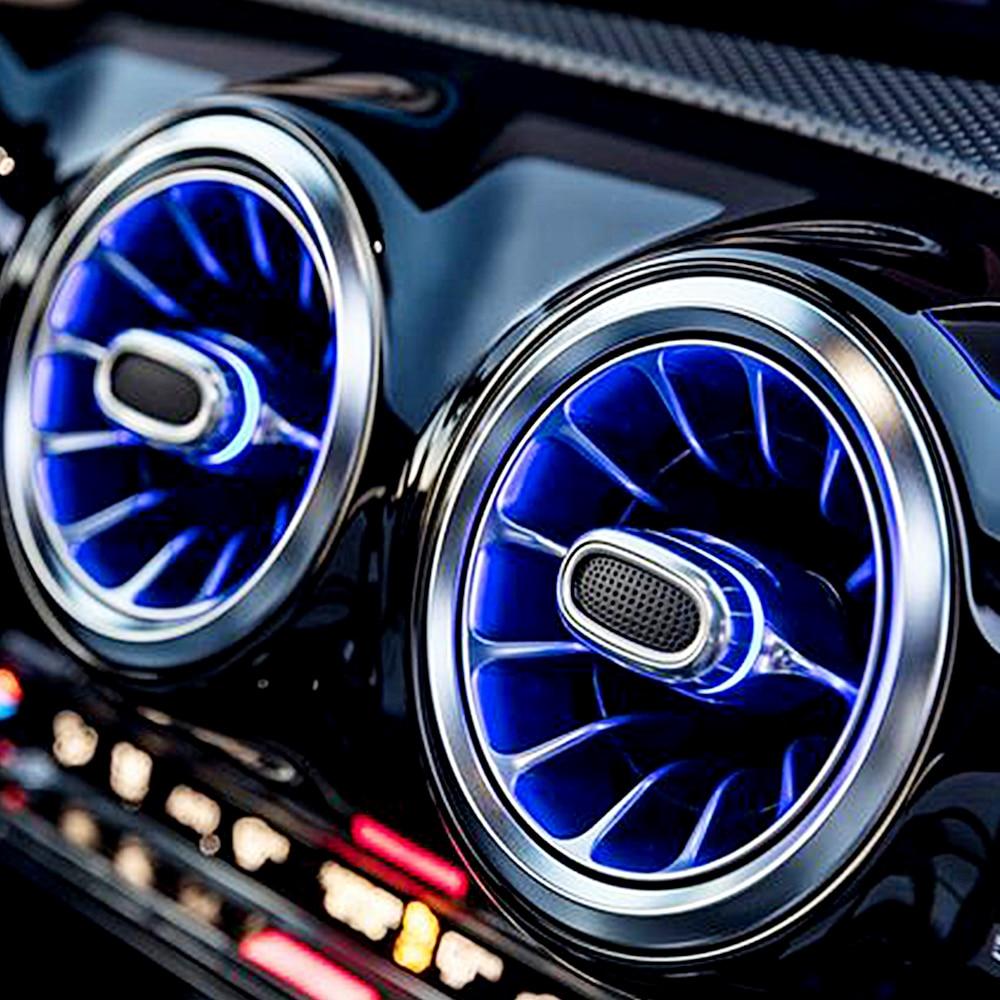 Frente do carro ventilação ambiente linght para audi a3 auto interior saída de ar fulgor iluminação 32 cor néon led iluminação da lâmpada tuning