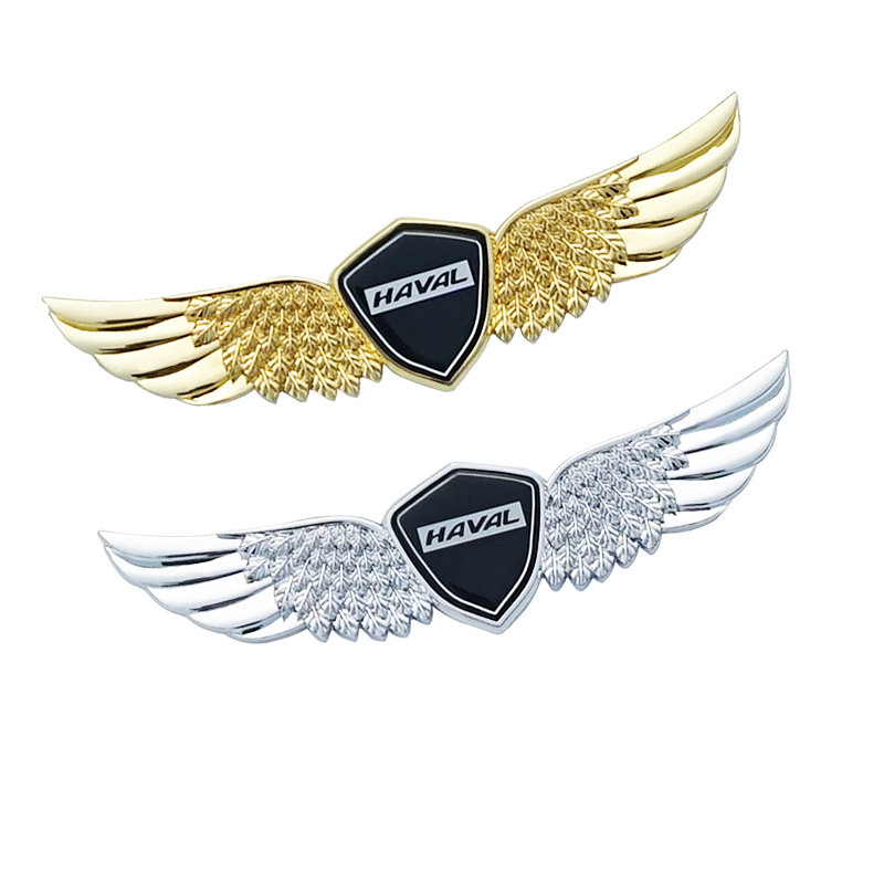 lowest price 3D metal sign car hood angel emblem sticker For HAVAL H1 H2 H6 H7 H9 F7for HAVAL Car hood angel emblem sticker