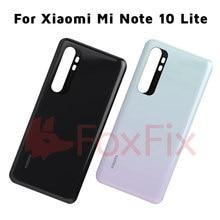 Oryginalny nowy dla Xiaomi Mi Note 10 Lite tylna pokrywa baterii tylna szklana obudowa drzwi Case dla Xiaomi Note10 Lite powrót szklany Panel