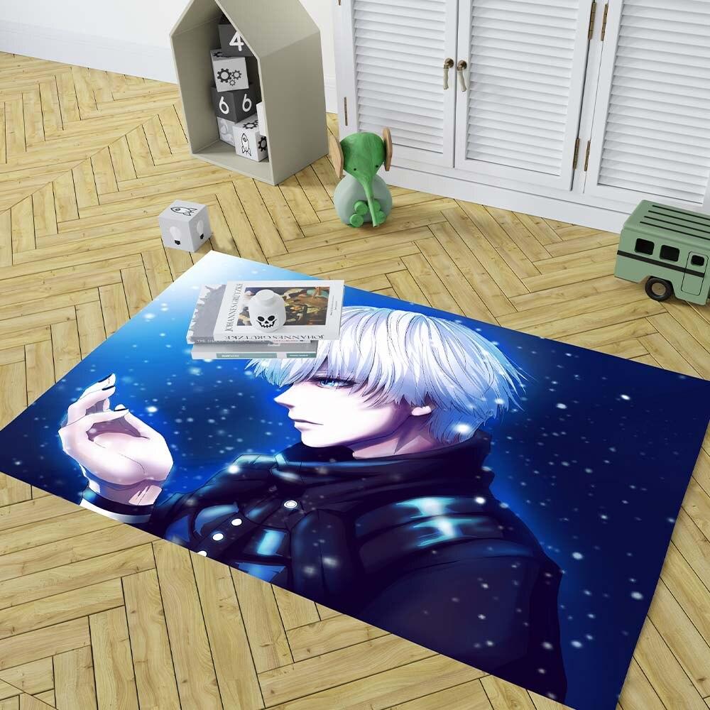 Rectangle Carpet Tokyo Ghoul Area-Rugs Door-Mat Bedroom Decor Floor Blue Home Japan Boy