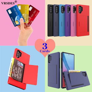 Candy Color Case For Samsung Galaxy Note 10+ 5G Note10 S10 5G Plus S10E Case Flip Card Slots Cover For Samsung Note 10 Plus 5G(China)
