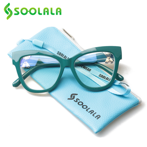 Image 2 - SOOLALA Cat okulary do czytania kobiety z skrzyżowanymi Rhinestone duże oprawki do okularów Lesebrille Reader okulary na receptę 0.5 do 4.0