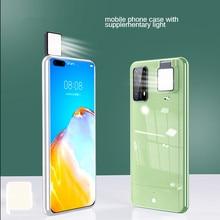 2021 New For Huawei P30 P20 P40 Pro Plus Ring Light Case With Flash Led Fill Light Shot Fashion Case Nova 7 Pro 6 5G Ringlight