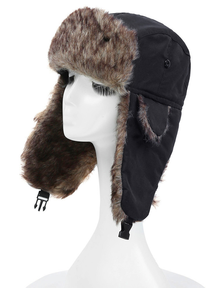 Зимняя шапка-ушанка унисекс