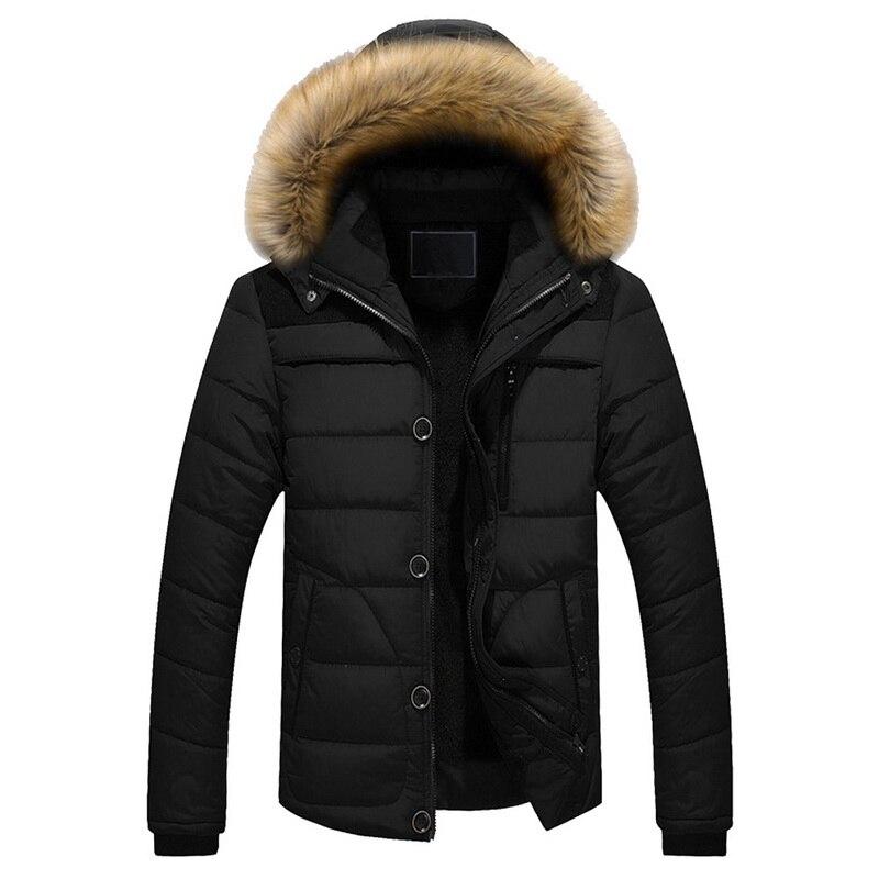 2019 Mens Fashion Winter Jacket Men Thick Casual Outwear Jackets Men's Fur Collar Windproof   Parkas   Plus Size Velvet Warm Coat