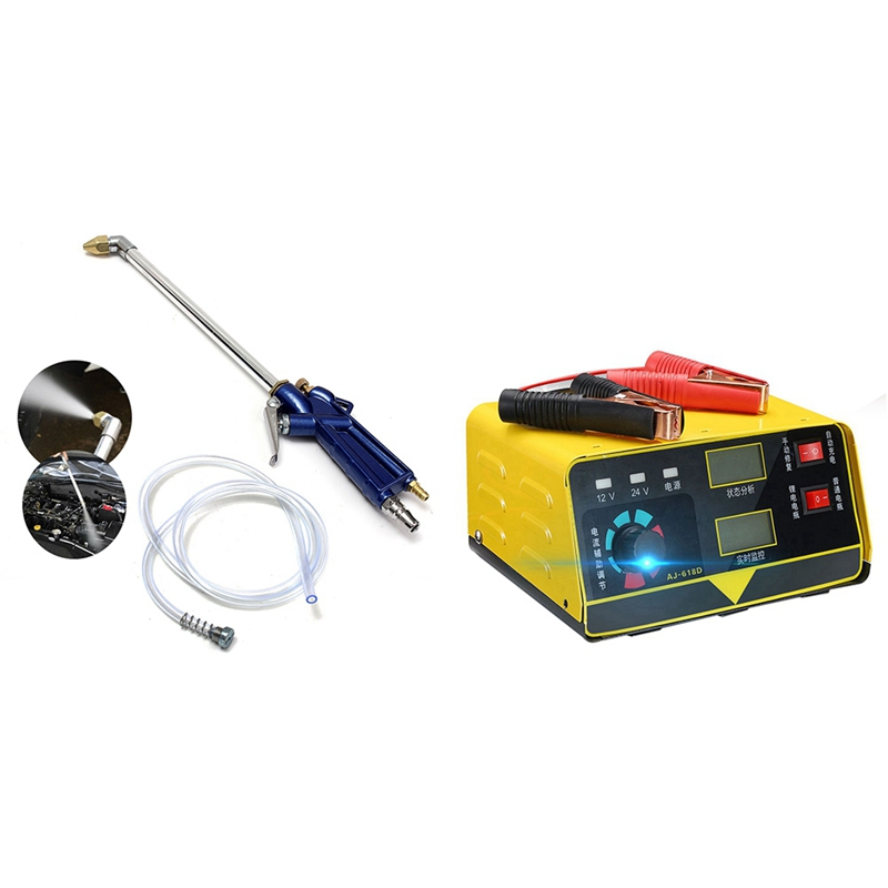 400mm Engine Oil Cleaning Tool Auto Automatic Cleaning Sprinkler Pneumatic Tool & Car Battery Charger Eu Plug