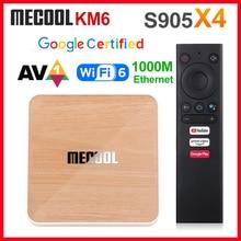 Mecool KM6 Deluxe ATV Amlogic S905X4 Smart Android 10,0 TV Box 4GB RAM 64GB ROM 2,4G/5G WiFi 4K Android 10 Set Top Box 2GB 16GB