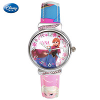 Disney frozen children watch Girls quartz watch pupils lovely cartoon girls watch girls watches kids Water Resistant 3Bar Alloy
